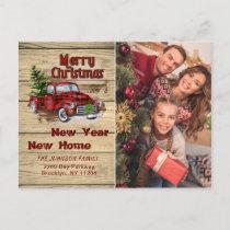 Change of Address Christmas Photo Holiday Postcard