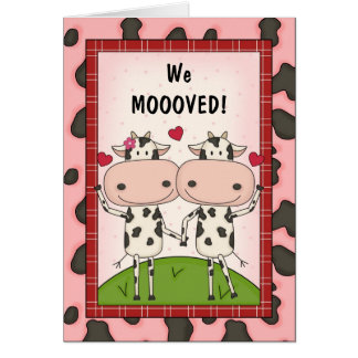 Change of Address - Cows Greeting Cards