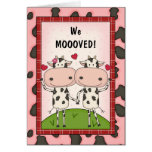 Change of Address - Cows Greeting Card