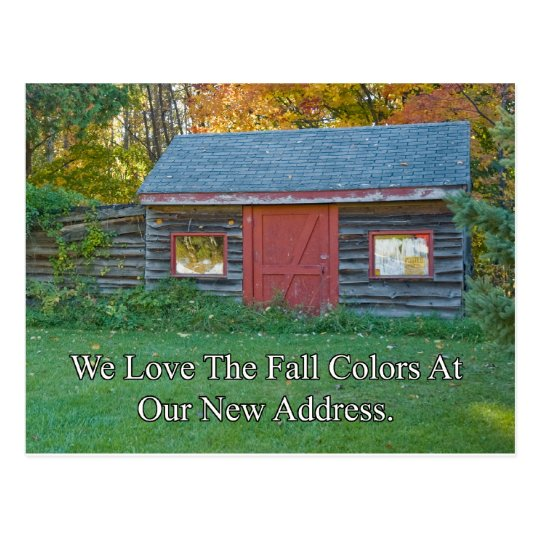 Change of Address - Fall Colors Postcard
