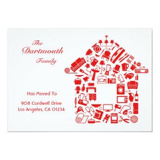 Change of Address Flat Card Announcement
