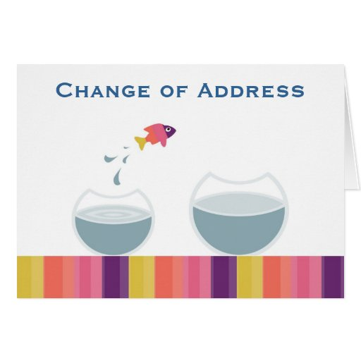 Change of address greeting card zazzle for Change of address note cards