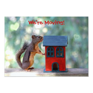 Change of Address/Housewarming Party Squirrel 5x7 Paper Invitation Card