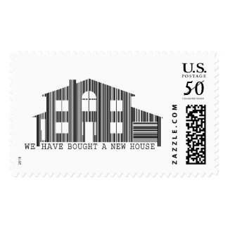 Change of address idea: Bought a new house barcode Postage