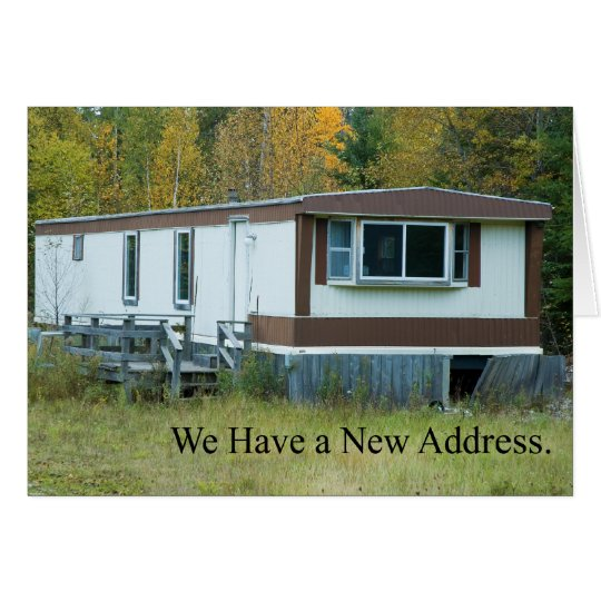 Change of Address: Mobil Home Card