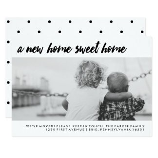 Change of Address | Modern Family Photo Card