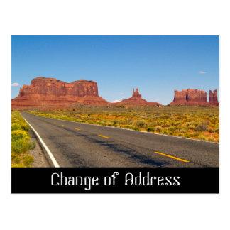 Change of Address notification card Postcard