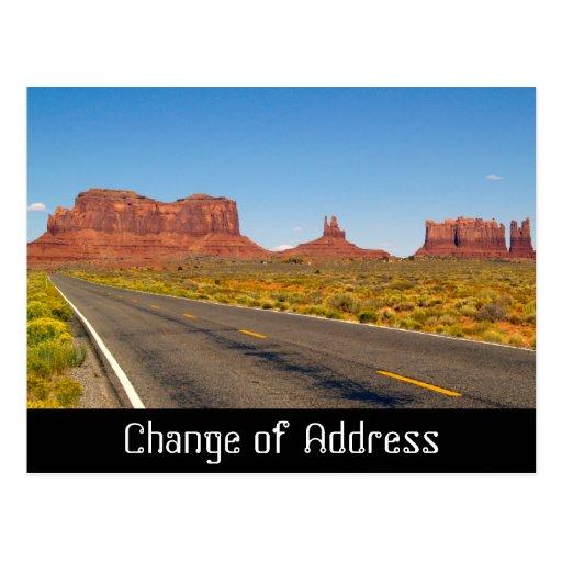 Change of address notification card postcard zazzle for Change of address note cards