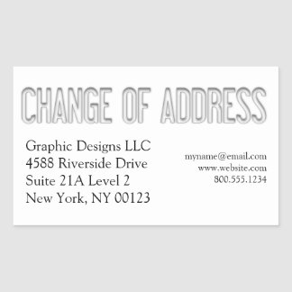 change of address notification