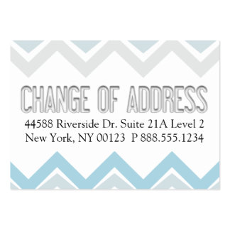 """""""Change of Address"""" Notification Label Business Cards"""