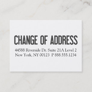 Change of address notification business cards templates zazzle change of address notification label business card colourmoves
