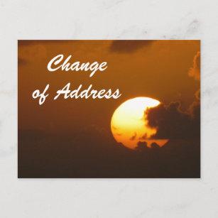 notification of change address postcards zazzle