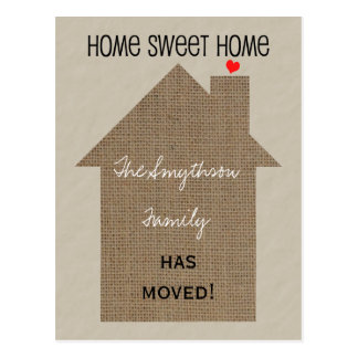 Change of Address Postcard -Burlap House