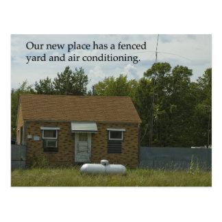 Change of Address Postcard: Fenced Yard Postcard