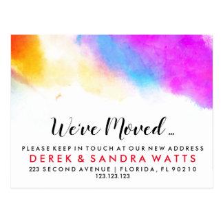 Change of address postcard we have moved