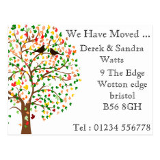 Change Of Address Postcard We Have Moved Autumn at Zazzle