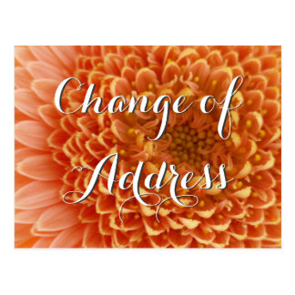 Change of address postcard with flower photography postcard