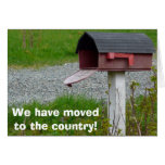 Change of Address Rural Country Mailbox Card