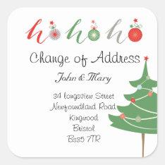 Change Of Address Sticker Christmas at Zazzle