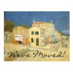 Change of Address, The Yellow House by van Gogh Postcard