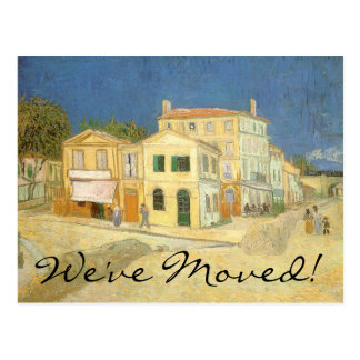 Change of Address The Yellow House by van Gogh Postcards
