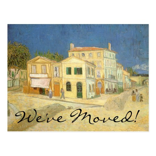 Change of Address; The Yellow House by van Gogh Postcards