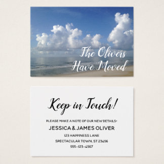Change of Address to Beach Home Photo Card