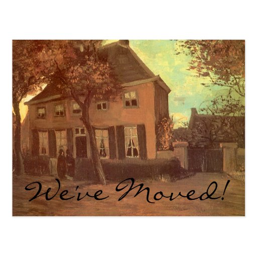 Change of Address; Vicarage at Nuenen by van Gogh Postcards