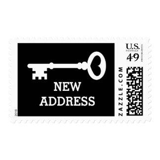 Change of address vintage key stamps for new home