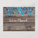 """Change of address we have moved house Blue Announcement Postcard<br><div class=""""desc"""">change of address we have moved postcard house</div>"""