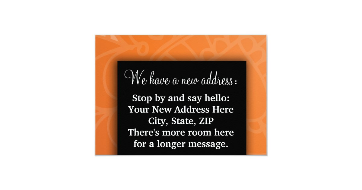 Change of address we moved house warming blessing card zazzle - House warming blessing ...