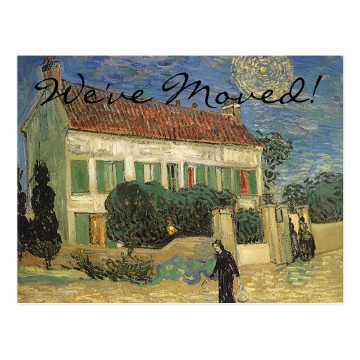 Change of Address; White House at Night; van Gogh Post Cards