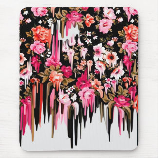 Change of Heart, melting floral pattern Mouse Pad