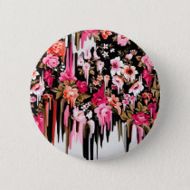 Change of Heart, melting floral pattern Pinback Button