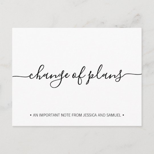 Change of Plans Social Disancing Save the Date Announcement Postcard