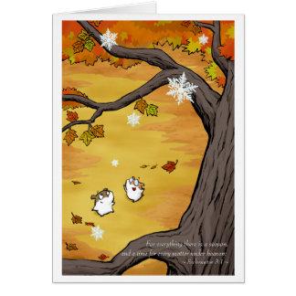 Change of Seasons Greeting Card