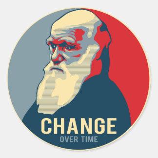 Change Over Time Round Sticker
