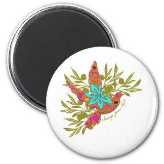 Change, Peace, Hope {Olive Branch and Dove} Magnet