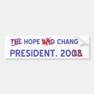 Change Pres. Bump Sticker