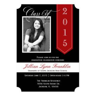 Change Ribbon Color Graduation Announcement