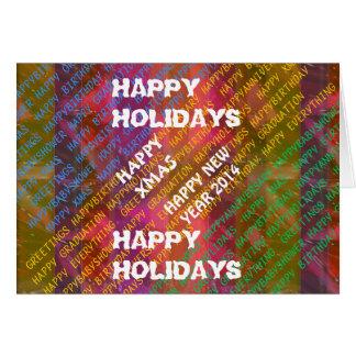 Change Text NEWYEAR HOLIDAYS CHRISTMAS XMAS DIY Greeting Card