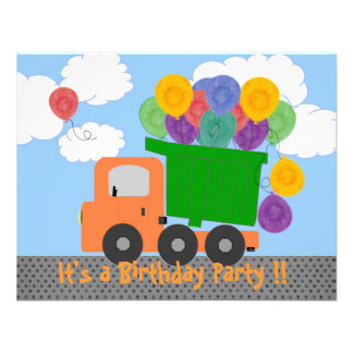 Change the Age Truck Birthday Invite