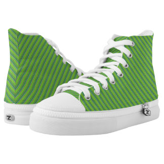 CHANGE THE COLOR Green Stripe Holiday Printed Shoes