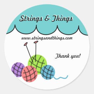 Change the color - knitting yarn balls Sticker