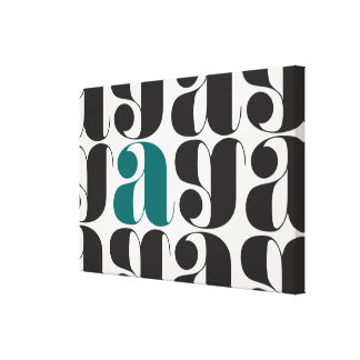 change the color of the letter A! Canvas Prints