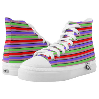 CHANGE THE COLOR Retro Candy Stripe Printed Shoes