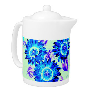 Change the Color Wacky Sunflowers Teapot