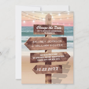 Tropical Save The Date Cards Zazzle
