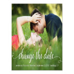 Change the Date White Outdoor Photo Magnetic Invitation