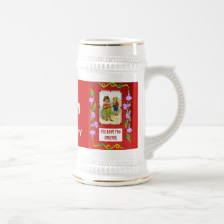Change the number! I carry my heart everywhere Beer Stein